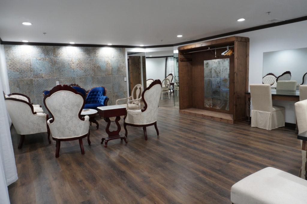elegant bridal suite at venue 102 event center in Edmond, OK