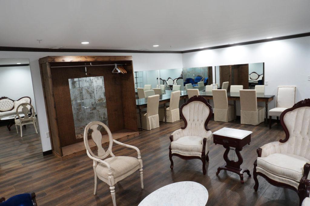 elegant bridal suite at venue 102 event space in Edmond, OK
